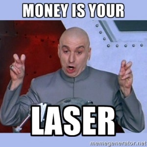 money is laser